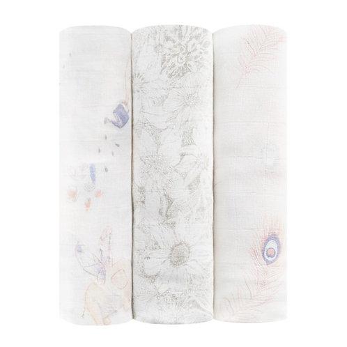 3 pak Silky Soft swaddles - Featherlight 1.20 x 1.20