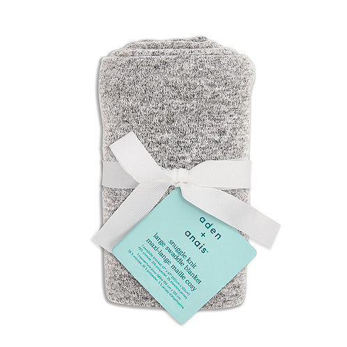 aden + anais Snuggle knit swaddle  - Heather grey