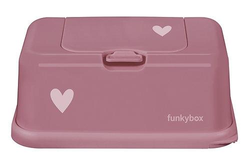 Funkybox billendoekjes doosje - Punch pink hart