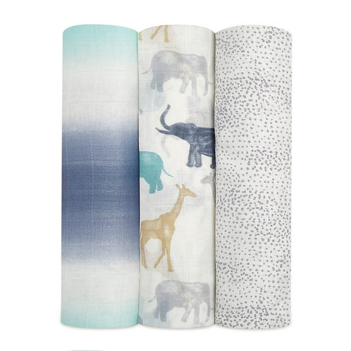 3 pak Silky Soft swaddles - Expedition *sample 1.20 x 1.20