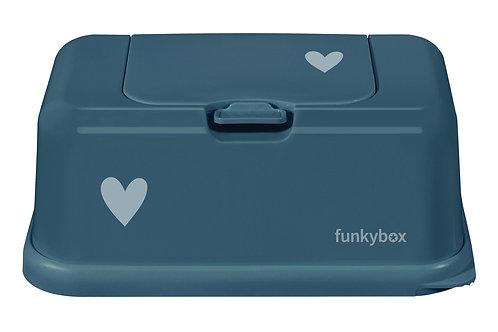 Funkybox billendoekjes doosje - Petrol hart