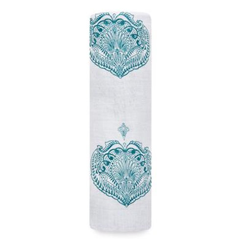 aden + anais single swaddle - Paisley teal