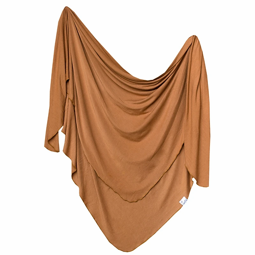 Copper Pearl Jersey swaddle - Camel