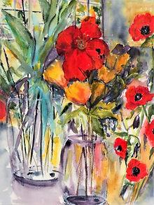 Red Flower, Gail Newell.JPG