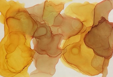 Warm Honey, ink on yupo, 91 x65.JPG