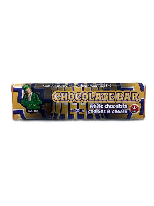 Chocolate Bar - White Chocolate Cookies & Cream 500MG