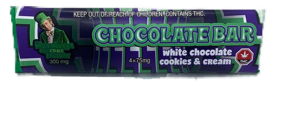 Chocolate Bar - White Chocolate Cookies & Cream 300MG