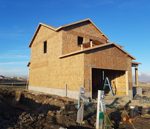 Our home being built