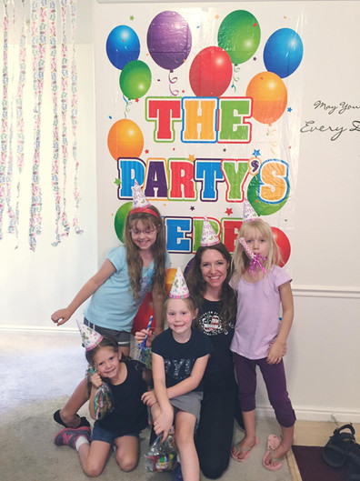 """A surprise """"Unbirthday Birthday Party"""" for my nieces!"""
