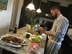 Preparing a special dinner
