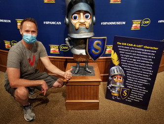 Sir Spam-a-lot at the Spam museum