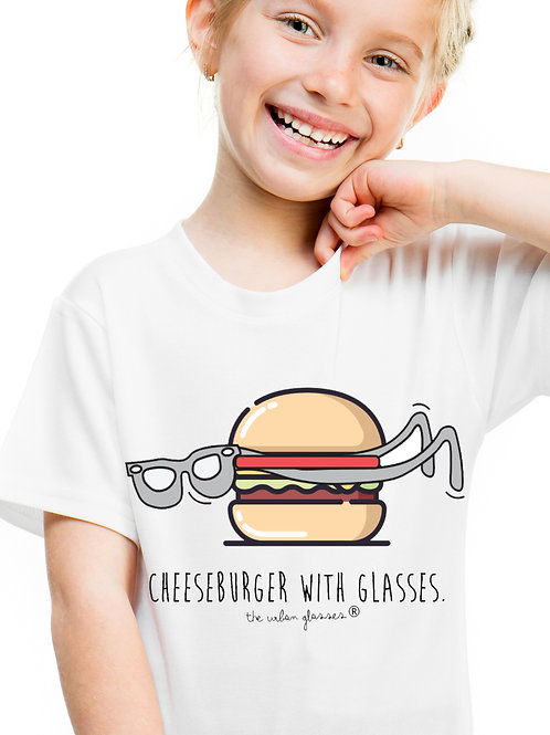 CHEESEBURGER WITH GLASSES