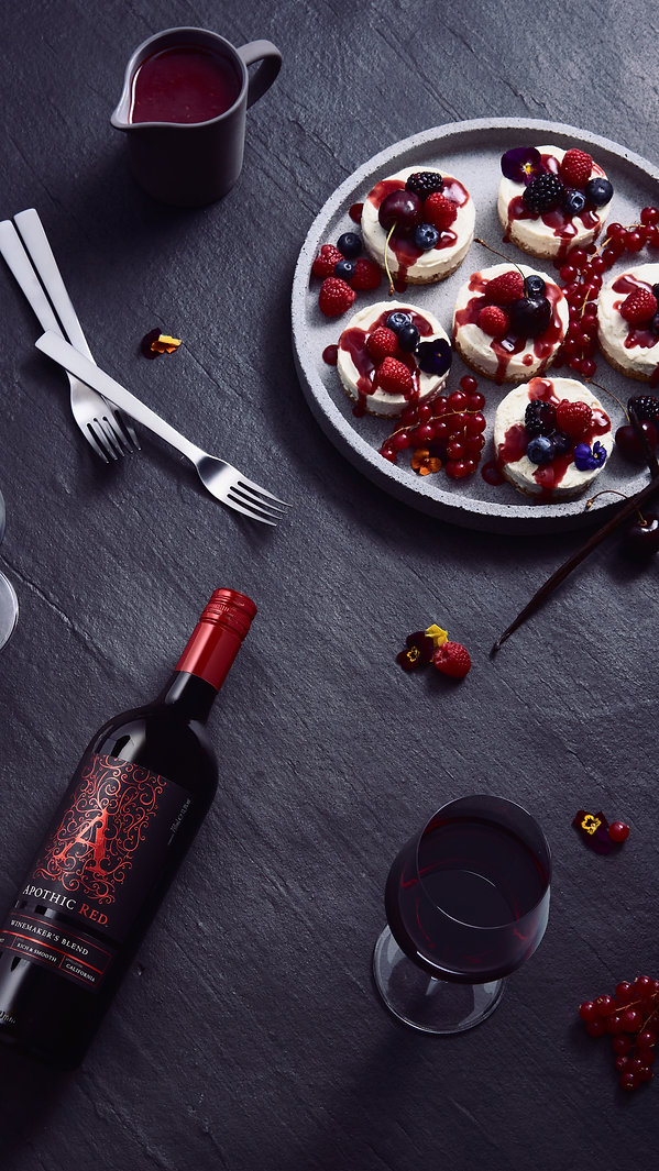 food and win pairing art direction