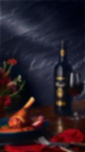 Wine pairing art direction