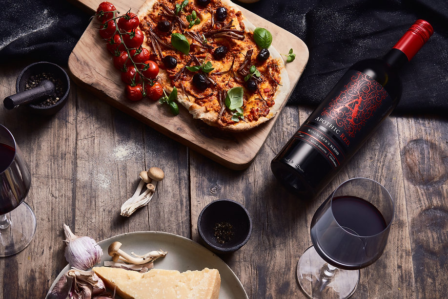 Food and wine pairing art direction