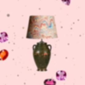 Vintge lamp digital collage