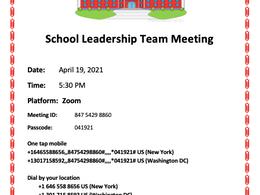 SLT Meeting: April