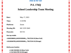 May SLT Meeting