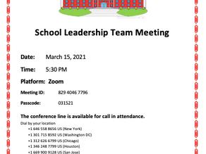 March SLT Meeting