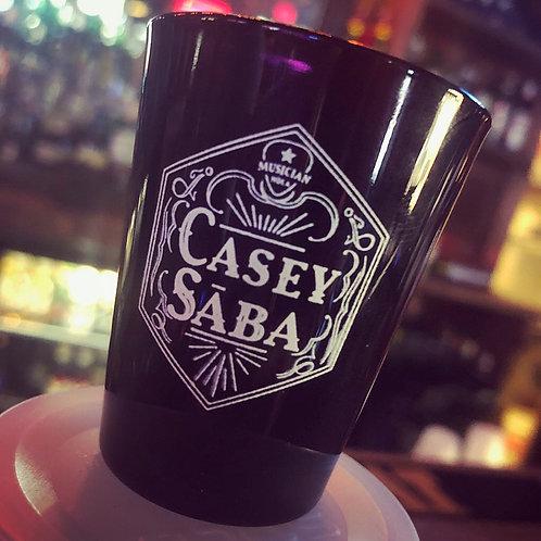 Black Glass Casey Saba Shot Glass