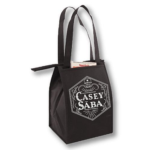 Black Insulated Shoulder Cooler Bag