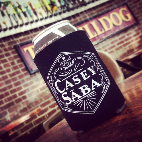 Black Casey Saba Logo Koozies