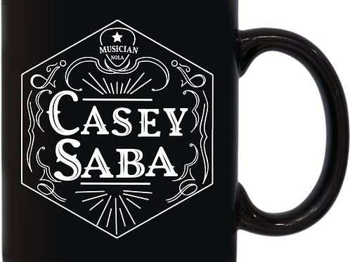 Casey Saba Black Coffee Mug