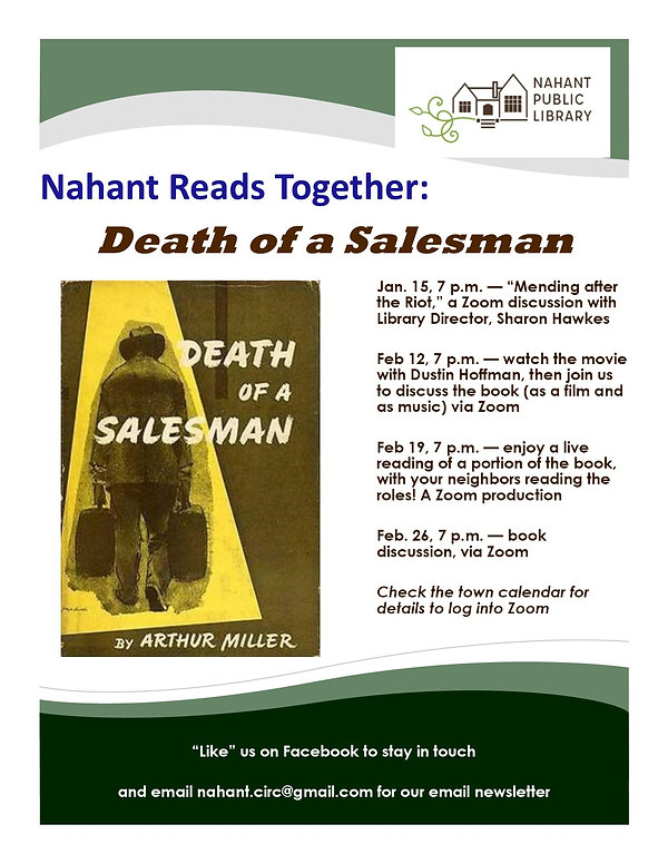 Events Poster, Death of a Salesman 2021.