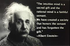 Intuition value - Einstein quote