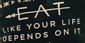 inspirational sign about health