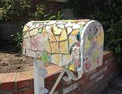 sweet handmade tiled mailbox