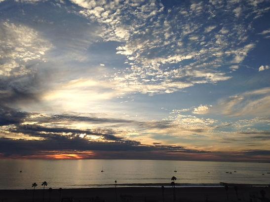 inspiring clouds over ocean