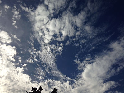 inspired blue sky with white clouds