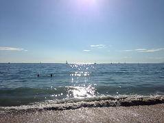 inspiring sunlit surf