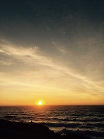 inspired ocean sunset