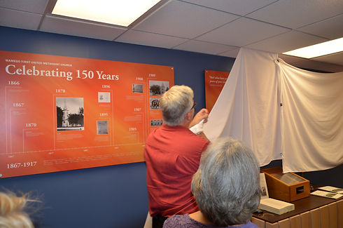 unveiling the history wall.JPG