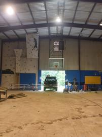 Interior after hardwood floor was taken up