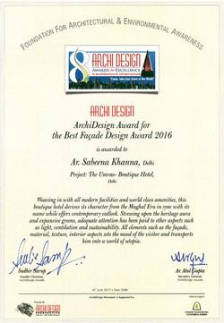 Archi Design Awards 2016-17