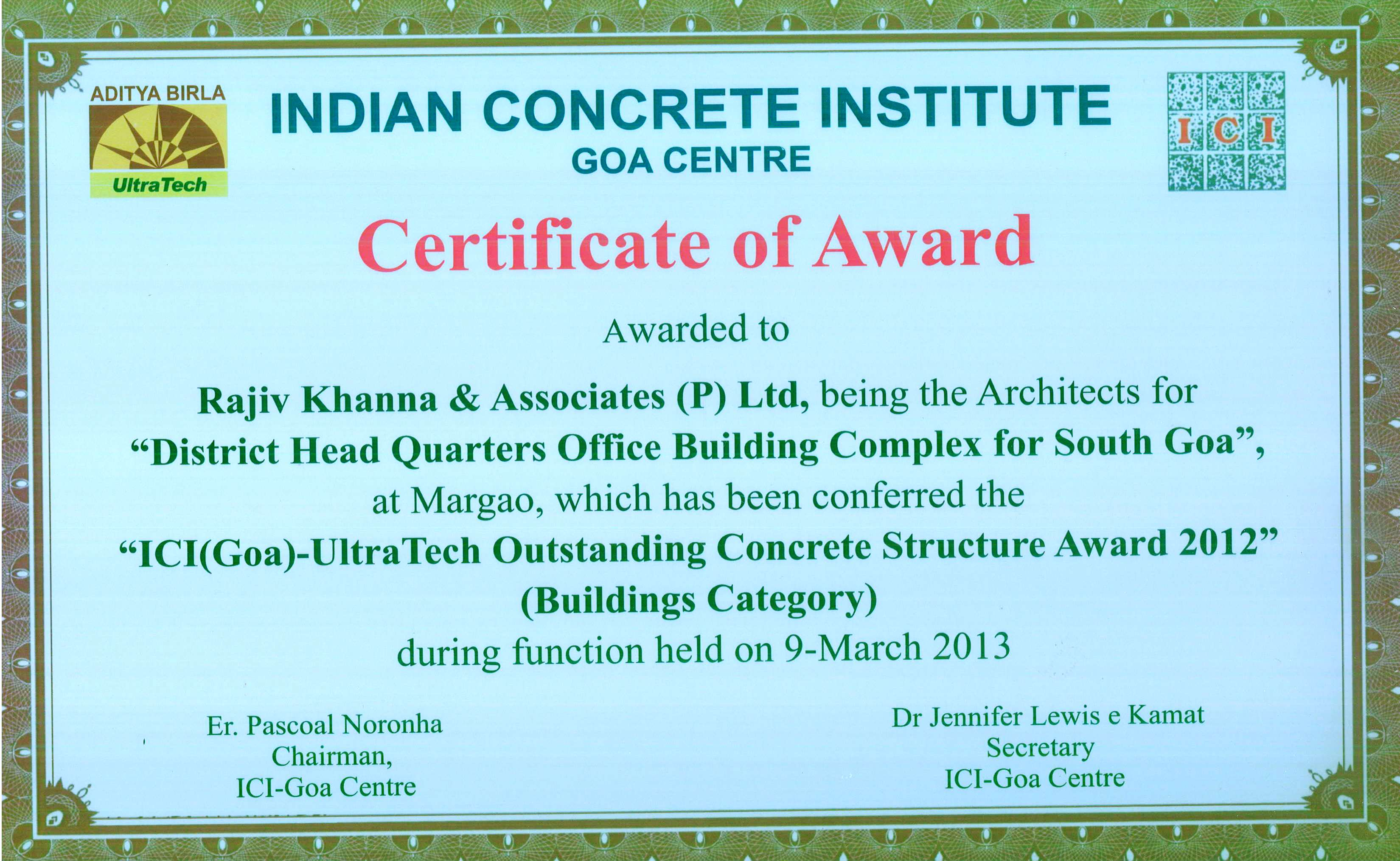 UltraTech Outstanding Structure 2012
