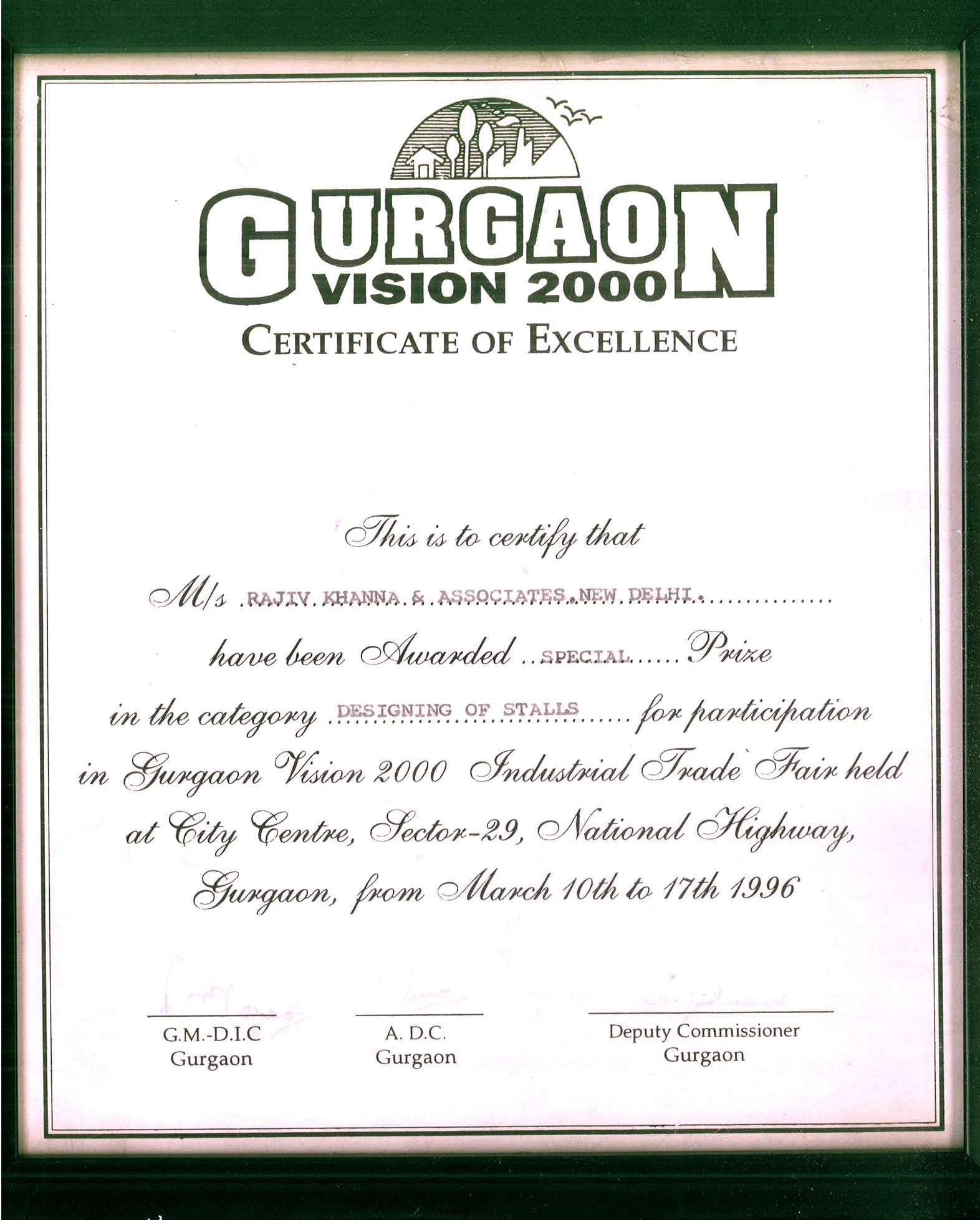 Gurgaon Vision 2000- Stall Design