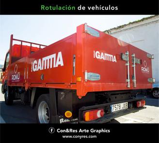 Rotulación de Camión Azulejos Romu