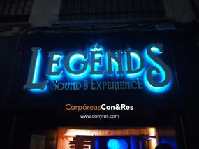 Letras Corpóreas Retroiluminadas Discoteca Legends
