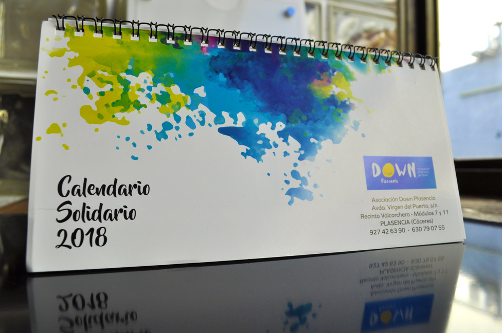 Diseño de calendario solidario 2018 Down