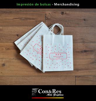 Bolsas de papel impresas Andrea Kids