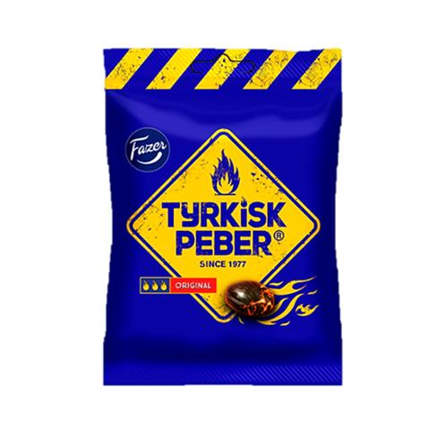 Fazer Tyrkisk Peber Original – Hot Peppery Liqourice Hard Candy 120g