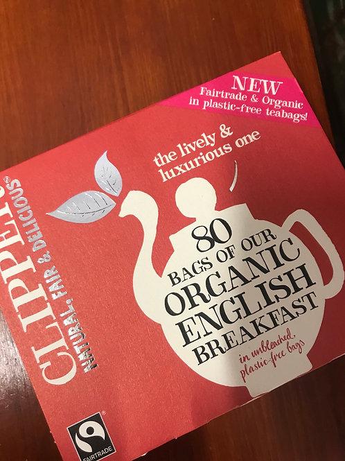Clippers - Organic English Breakfast tea 80 Bags
