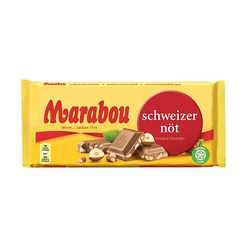 Marabou Mjolkchoklad Schweizernot – Hazelnut Chocolate 200g