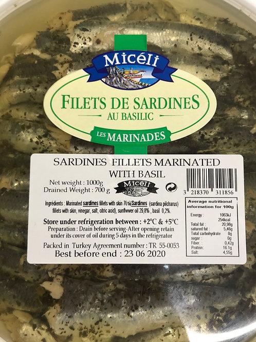 Sardine Fillets with Basil 🌿 200g
