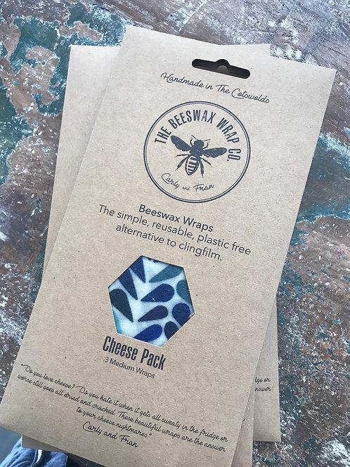 Beeswax Wraps - Cheese Pack (3 medium wraps)