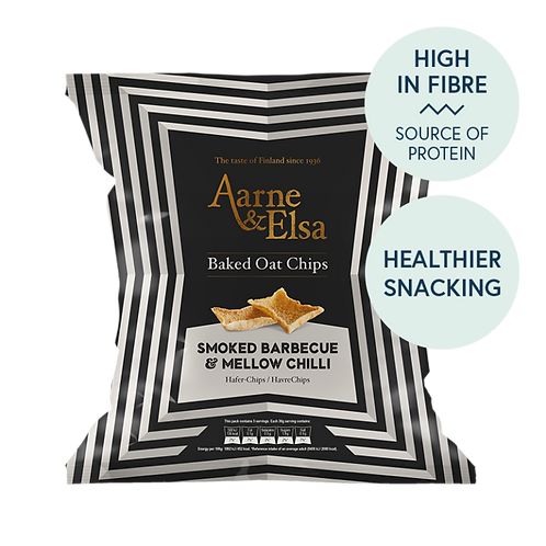 Aarne & Elsa Oat Chips – Smoked BBQ & Mellow Chilli 150g